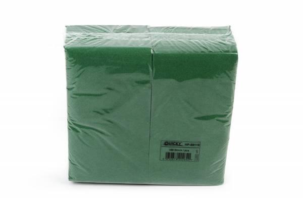 Quicky Farbige Tafelserviette, 40 x 40 cm, grün, 2lg