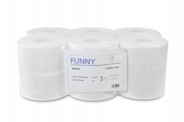 Funny Jumbo Toilettenpapier, 2-lagig, Ø18cm, 12 Rollen
