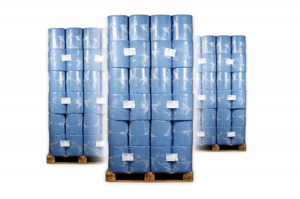 Sonderposten mit 36 VE Industriepapierrollen farbig 3-lagig