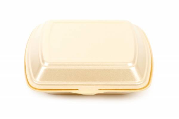 Funny Menübox, 1-teilig, beige, geschäumt, 200 Stk, 23x19cm
