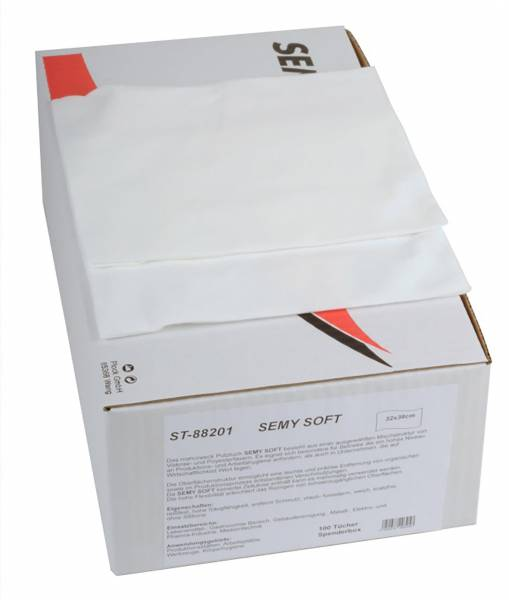 SemyTop Soft Spenderbox, weiß, 6x100 Tücher