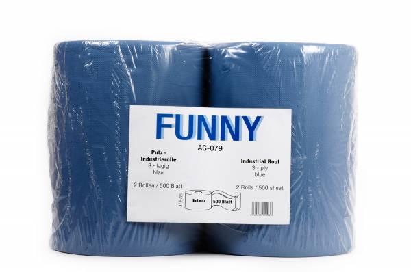 Funny Industriepapierrolle, 3-lagig, Recycling, geprägt