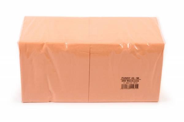 Farbige Tafelserviette, 33 x 33 cm, apricot