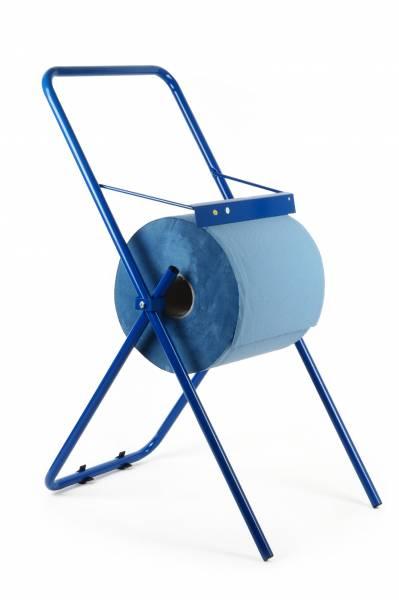 Quicky Putzrollen-Spender Bodenständer, blau, Metall, bis 30cm
