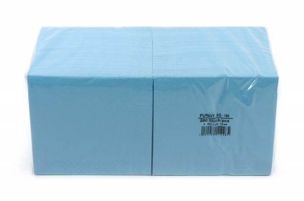 Funny Farbige Tafelserviette, 33 x 33 cm, hellblau