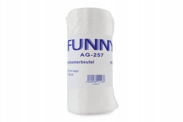 Kosmetikeimerbeutel, transparent, 10 Liter, 40 Rollen