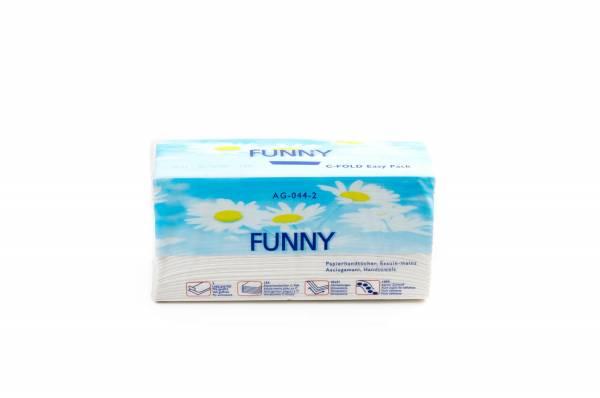 Funny Papierhandtücher Zupfbox 2-lagig C-Falz 3060 Blätter
