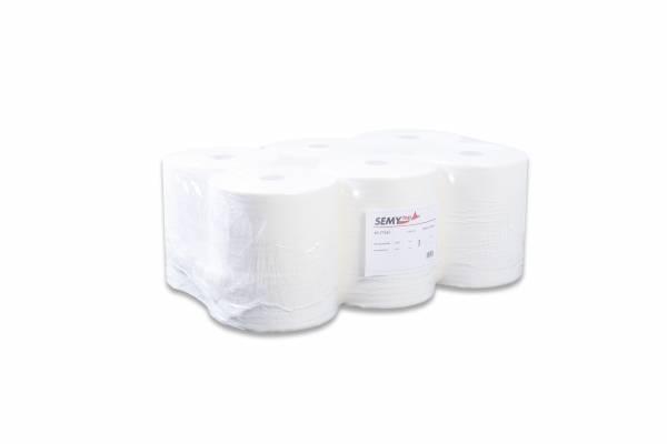 SemyTop TAD Premium Handtuchpapier-Rolle, 1-lagig, Zellstoff