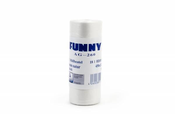 Funny Müllbeutel PE, transparent, 18 Liter, 40 Rollen