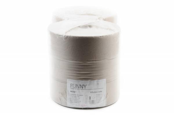 Funny Jumbo Recycling Toilettenpapier, 1-lagig, 6 Rollen