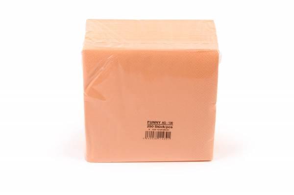 Funny Farbige Tafelserviette, 40 x 40 cm, apricot
