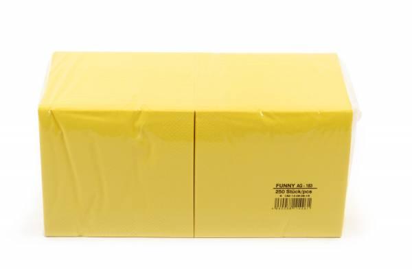 Funny Farbige Tafelserviette, 33 x 33 cm, gelb