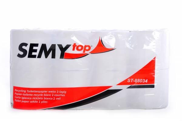 SemyTop Recycling Toilettenpapier, 2-lagig