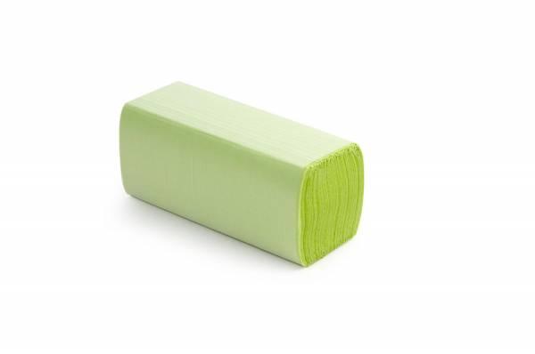 Funny Papierhandtücher 2-lagig ZZ/V-Falz 4000Blatt Grün eingefärbt