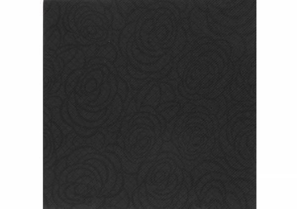 SemyTop Airlaid Motivserviette Roses, schwarz