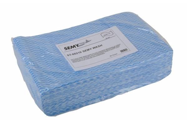SemyTop Wash Putztuch, blau, 6x50 Stk