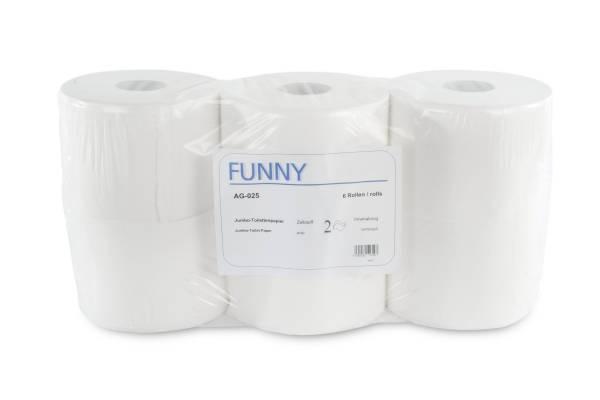 Funny Jumbo Toilettenpapier, 2-lagig, Zellstoff