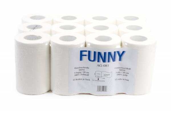 Funny Handtuchrolle 1-lagig Zellstoff 12 Rollen