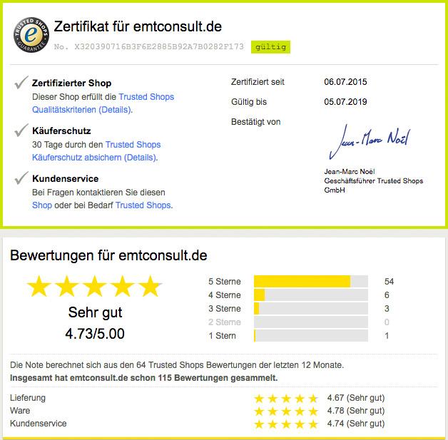 Online Großhandel - Trusted Shops zertifiziert