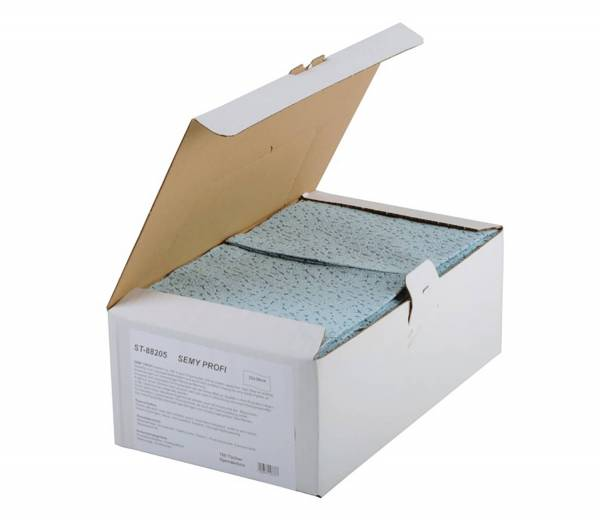 SemyTop Profi Spenderbox, blau, 6x100 Tücher