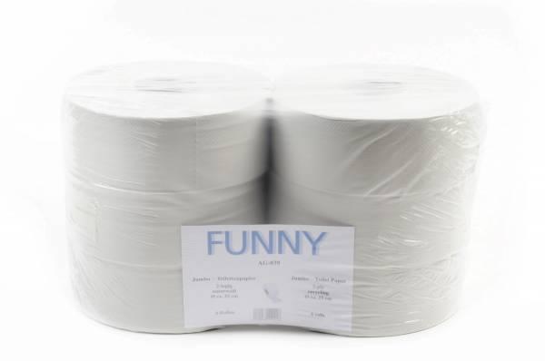 Jumbo Toilettenpapier, recyclingweiß, 2-lagig