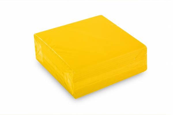 Quicky Airlaid-Servietten, 40 x 40 cm, gelb