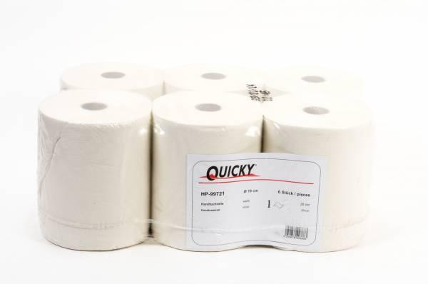 Quicky Handtuchrolle, 1-lagig, Zellstoffmix, 6 Rollen