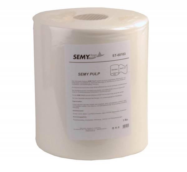 SemyTop Pulp Putztuchrolle, weiß, 300 Blatt
