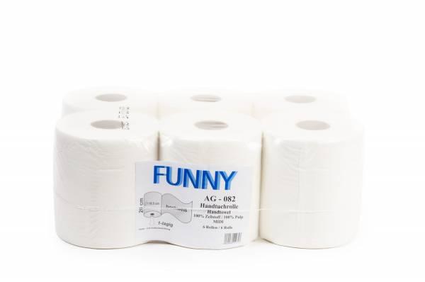 Funny Handtuchrolle 1-lagig Zellstoff 6 Rollen