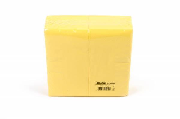 Quicky Farbige Tafelserviette, 40 x 40 cm, gelb