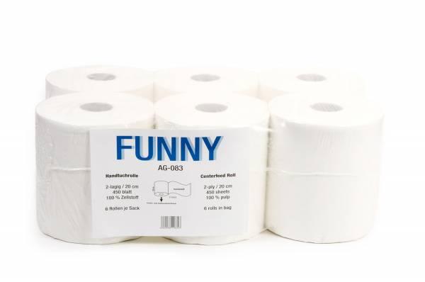 Funny Handtuchrolle 2-lagig Zellstoff 6 Rollen
