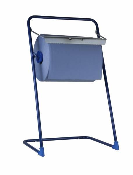 SemyTop Putzrollen-Spender Bodenständer, blau, Metall