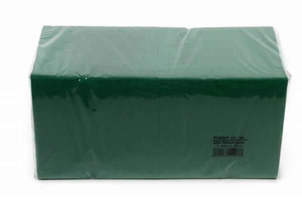 Funny Farbige Tafelserviette, 33 x 33 cm, grün