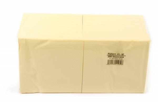Funny Farbige Tafelserviette, 33 x 33 cm, creme