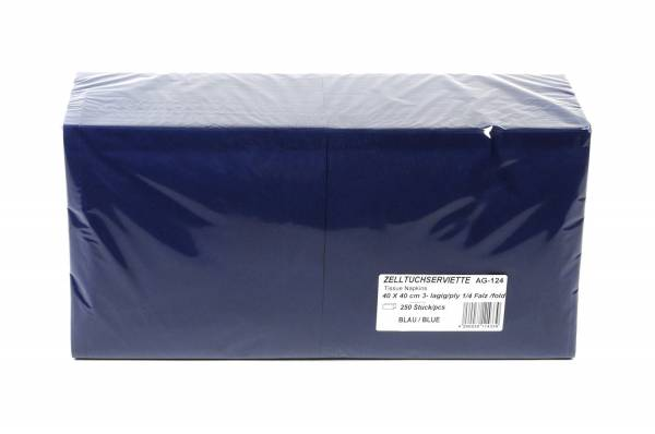 Farbige Tafelserviette, 40 x 40 cm, dunkelblau