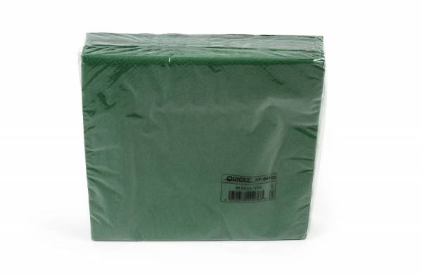 Quicky Farbige Tafelserviette, 40 x 40 cm, grün, Zellstoff