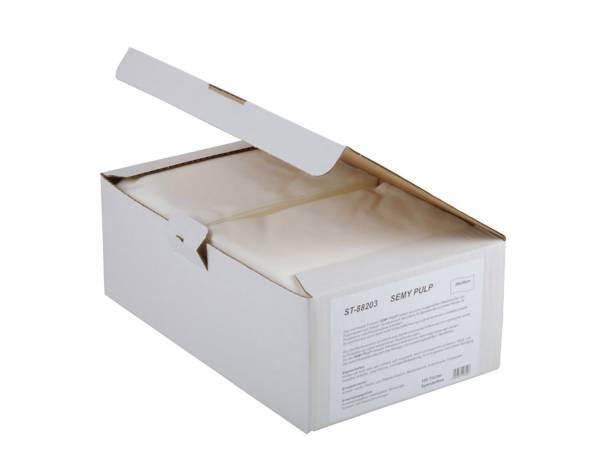 SemyTop Pulp Spenderbox, weiß, 6x100 Tücher