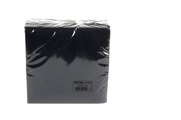 Quicky Airlaid-Servietten, 40 x 40 cm, schwarz, 1/4 Falz