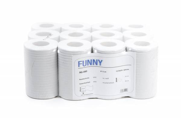 Funny Handtuchrolle MINI, Recycling, 12 Rollen