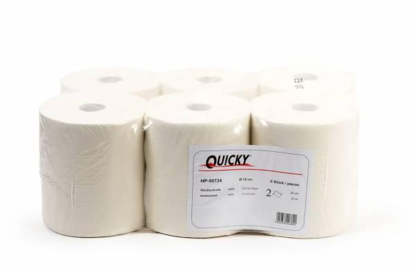 Quicky Handtuchrolle, 2-lagig, 6 Rollen, Zellstoffmix